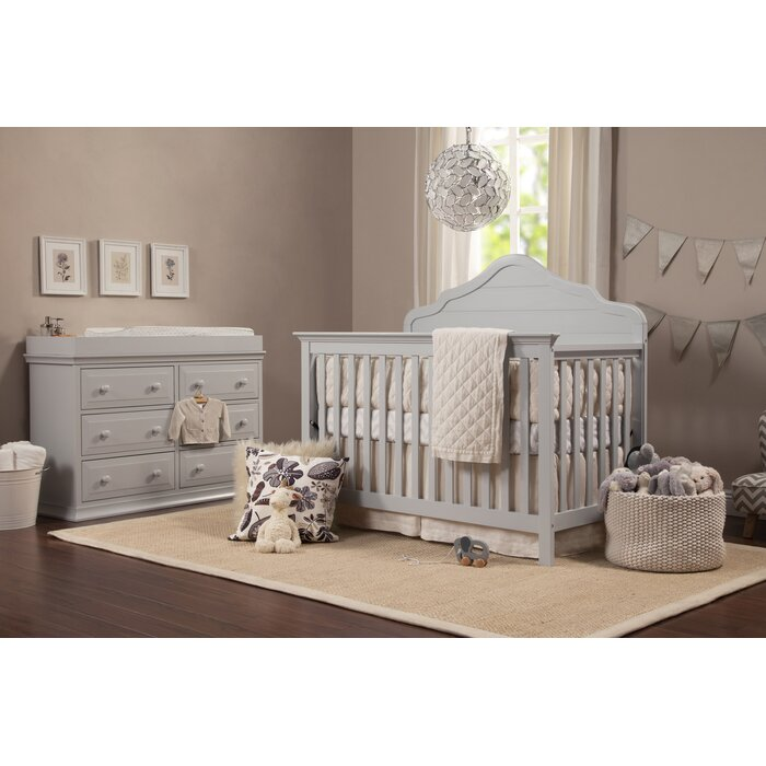Flora 4 In 1 Convertible 2 Piece Crib Nursery Furniture Set