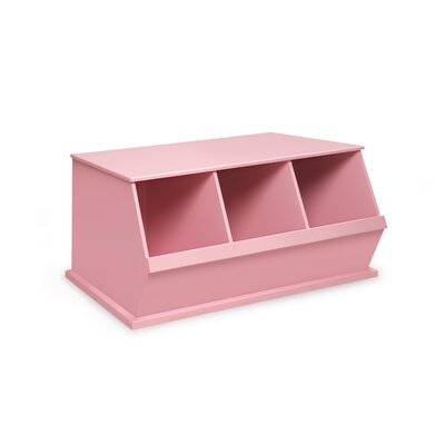 Viv + Rae Bridport Go-To Storage Cubby Toy Organizer Bins: 3, Finish: Pink