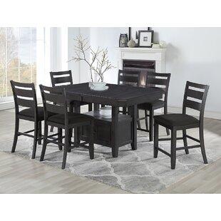Benning 7 Piece Counter Height Dining Set Canora Grey