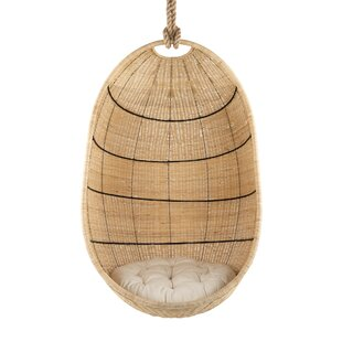 Meeks Wicker Hanging Swing Chair by Bayou Breeze Best #1