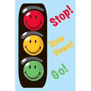 Top Reviews Smiley World Traffic Signal Blue Area Rug ByFun Rugs