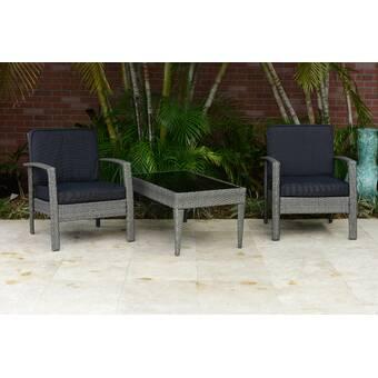 Highland Dunes Depew Outdoor Garden Furniture 4 Piece Rattan Sofa Seating Group With Cushions Wayfair