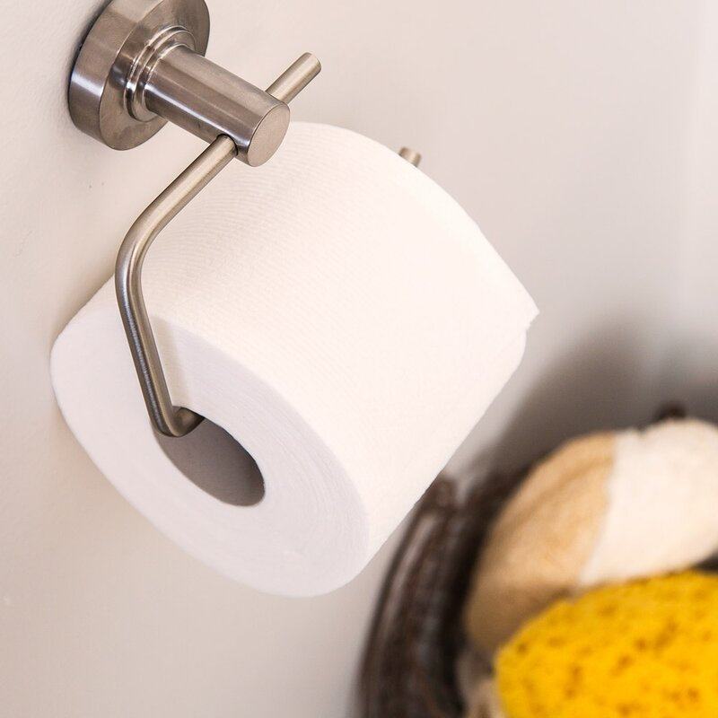 Wall Mounted Toilet Paper Holder speakman neo wall mount toilet paper holder & reviews | wayfair