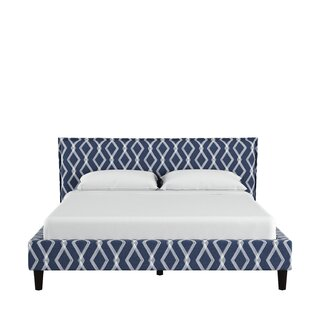 Edford Seamed Crossweave Upholstered Panel Bed