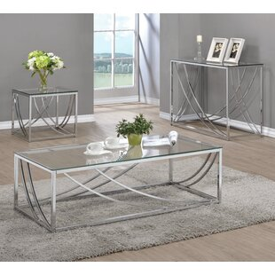 Wade Logan Church Strett 3 Piece Coffee Table Set