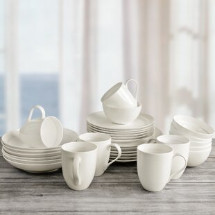 Maguire 30 Piece Bone China Dinnerware Set, Service for 6