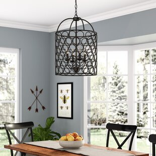 Nyyear 4-Light Lantern Chandelier by Grac..