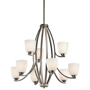 Andover Mills Rutledge 9-Light Shaded Chandelier