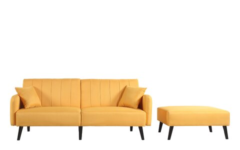 George Oliver Ryegate Mid Century Convertible Sofa