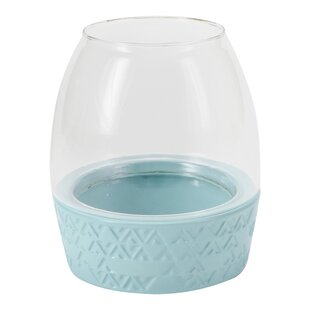 Hallmark Home & Gifts Modern Ceramic and Glass Lantern