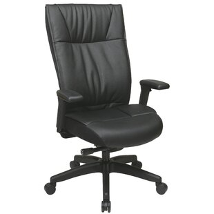 Check Prices Pascarella Genuine Leather Task Chair by Symple Stuff Reviews (2019) & Buyer's Guide