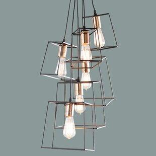 Alwin 6-Light Cluster Pendant by Trent Austin Design