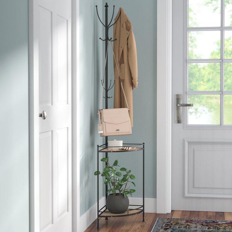 Corner Metal/Wood Coat Rack. By Trent Austin Design