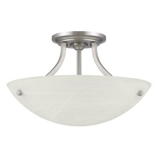 Demers 2-Light Semi Flush Moun..