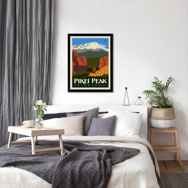 East Urban Home Asa Pikes Peak Framed Vintage Advertisement Wayfair