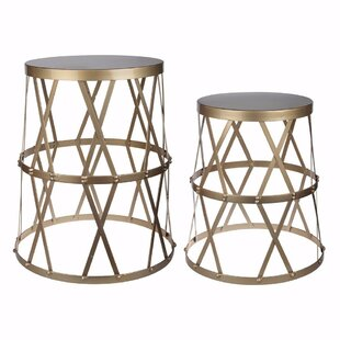 Selena 2 Piece Intriguing Urban End Table Set