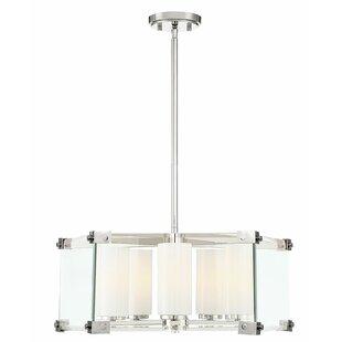Ebern Designs Tylor 5-Light Geometric Chandelier