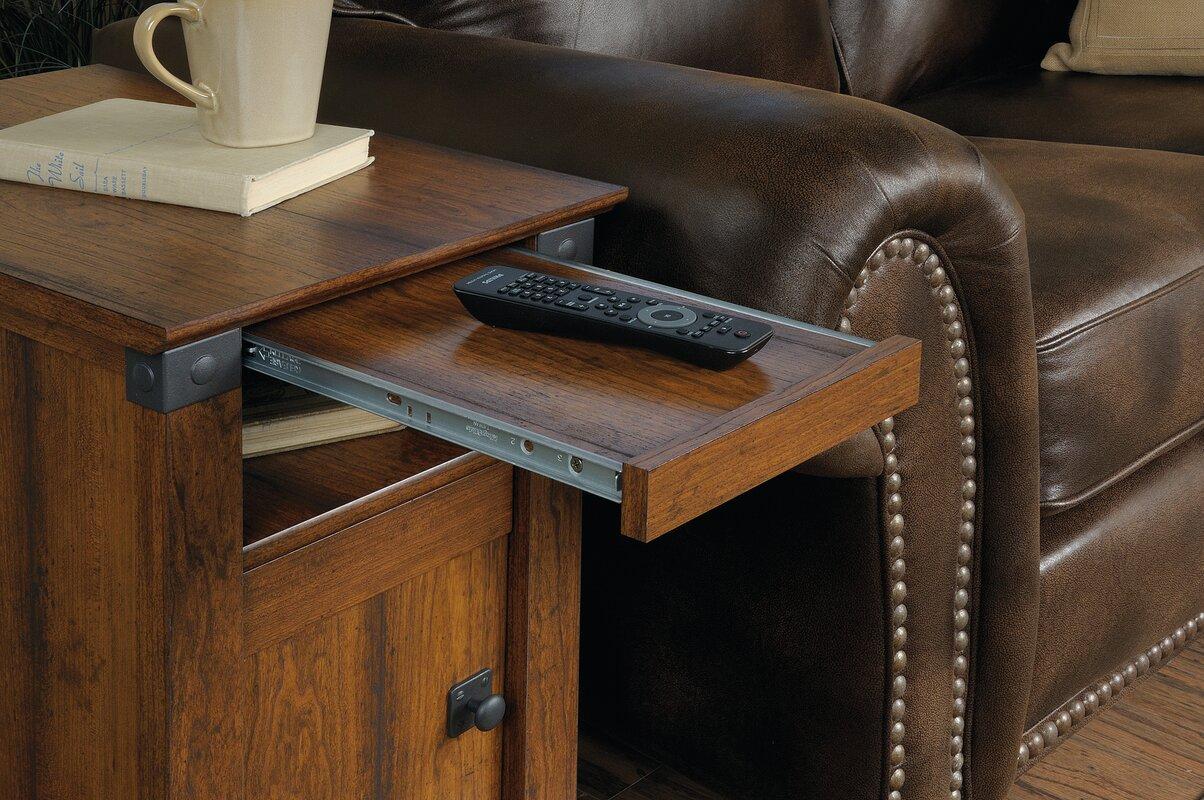 Loon Peak Newdale End Table With Storage Amp Reviews Wayfair