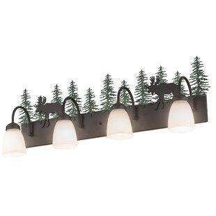 Loon Peak Romel Wandering Moose 4-Light Bath Bar