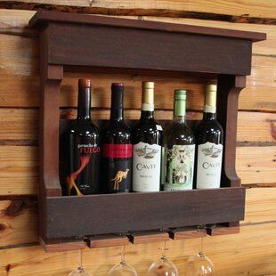 5 Bottle Wall Mounted Wine Rack by Gronom..
