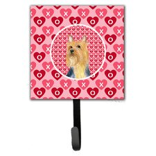 Silky Terrier Valentine's Love and Hearts Leash Holder and Wall Hook by Caroline's Treasures