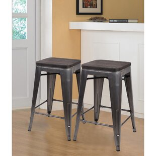 Price comparison Calanthe 24 Bar Stool (Set of 2) by Williston Forge Reviews (2019) & Buyer's Guide