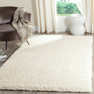 Shag And Flokati Creme Area Rug