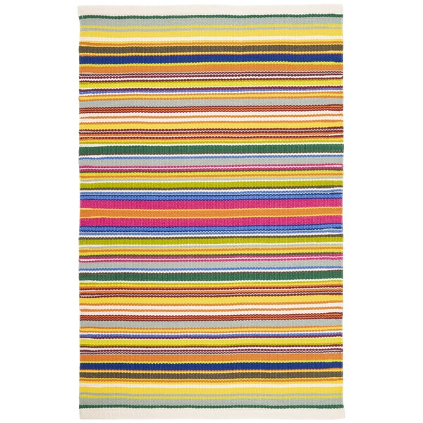 Dash And Albert Rugs Tropical Striped Handmade Flatweave Yellow Pink Green Indoor Outdoor Area Rug Wayfair
