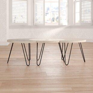 Hamra 3 Piece Coffee Table Set By Latitude Vive