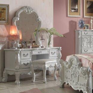 Andrew Home Studio Dhoom Vanity Set with Mirror