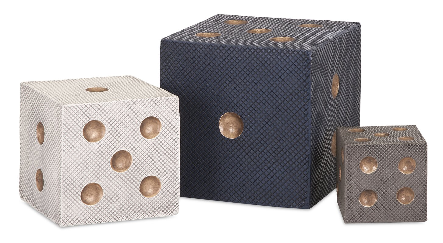 Ebony 3 Piece Decorative Dice Set - Shop Drew's Honeymoon House {Jonathan's Guest Suite}