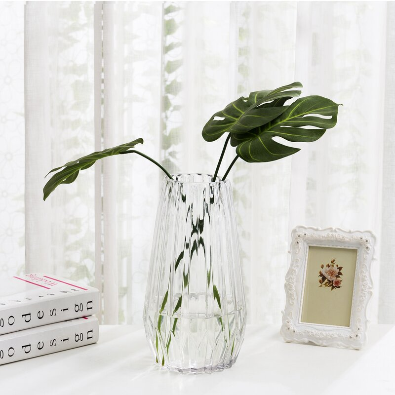 George Oliver Hayashi Clear 11 81 Glass Table Vase Wayfair