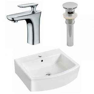 Compare prices Ceramic 22 Bathroom Sink with Faucet and Overflow By Royal Purple Bath Kitchen