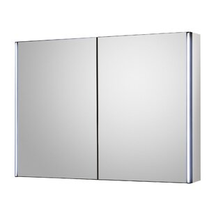 Meloso 80cm X 60cm Surface Mount Mirror Cabinet With LED Lighting By Hudson Reed