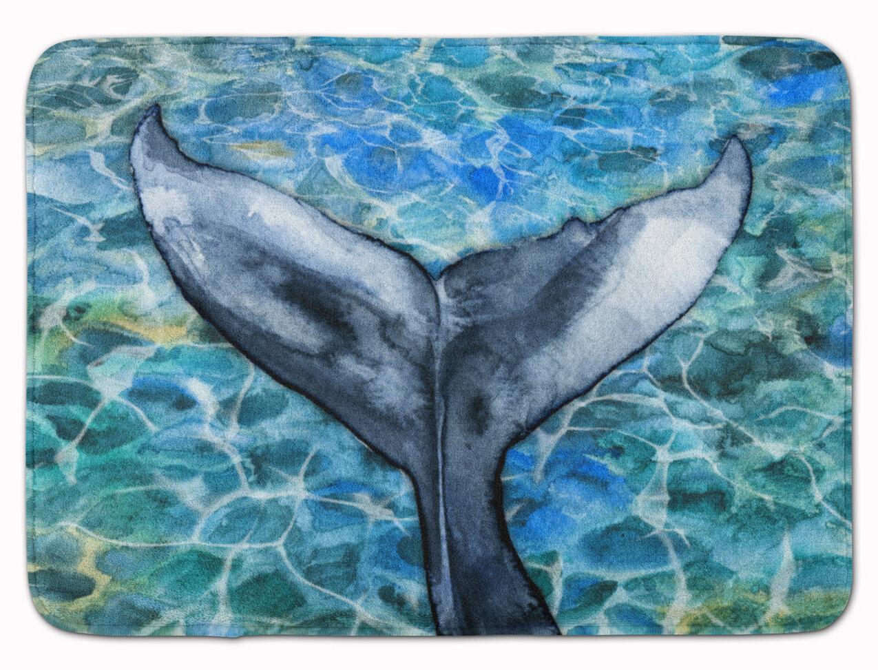 East Urban Home Hachi Whale Tail Rectangle Microfiber Non Slip Bath Rug Wayfair
