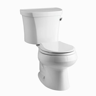 Kohler Wellworth Two-Piece Round-Front 1.28 GPF Toilet with Class Five Flu..