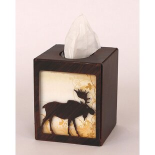 Coast Lamp Mfg. Moose Square Tissue Box Cover