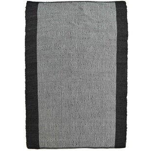Holiday Hand Knotted Black Rug by Bakero