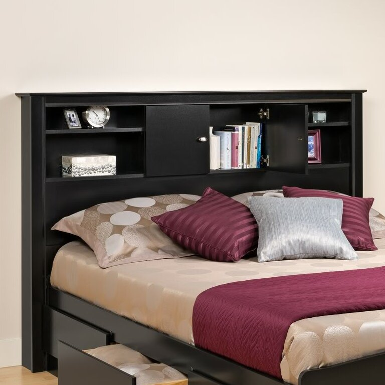 red barrel studio belgium bookcase headboard  reviews  wayfair, Headboard designs