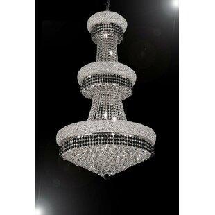 Stewart 24-Light Empire Chandelier by Rosdorf Park