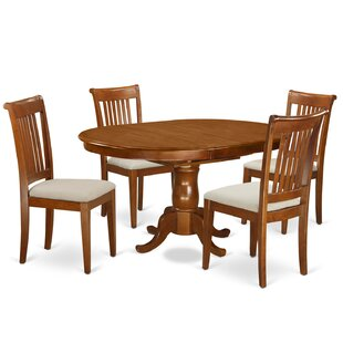 Portland 5 Piece Dining Set East West Furniture