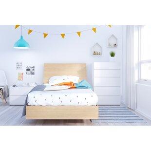 Laurel Twin Platform 4 Piece Bedroom Set