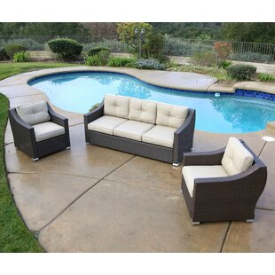 Leib 3 Piece Sofa Set with Cushions
