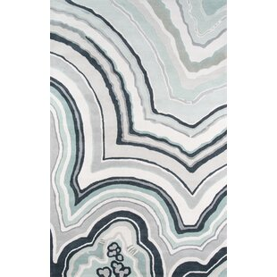Inexpensive Agate Hand-Tufted Blue/Gray Area Rug By Novogratz
