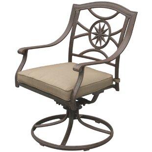 Lenzburg Swivel Patio Dining Chair with Cushion