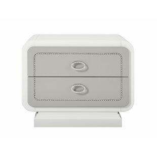 Everly Quinn Guion 2 Drawer Nightstand