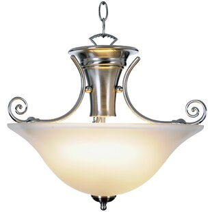 Monument Wellington Lighting 1-Light Bowl Pendant