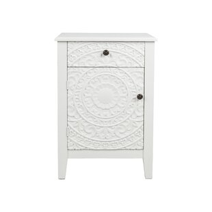 Eustaquio 1 Door Accent Cabinet by Bungalow Rose