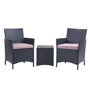 Almus 3 Piece Conversation Set with Cushions