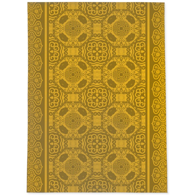 Bloomsbury Market Aparna Power Loom Gold Rug Wayfair